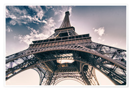 Premium-plakat Paris - up to the sky and back