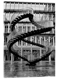 Akrylbillede  Endless steel stairway in Munich