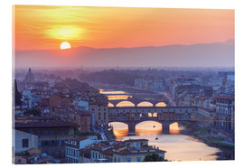 Akrylbillede  Florence at sunset