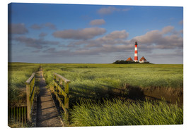 Lærredsbillede  Lighthouse in the salt marshes on the North Coast