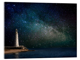 Akrylbillede  Lighthouse in starlight