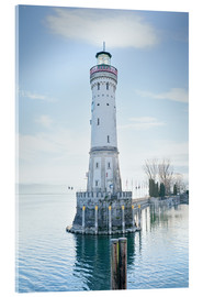 Akrylbillede  beautiful lighthouse at Lindau