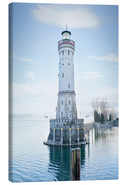 Lærredsbillede  beautiful lighthouse at Lindau