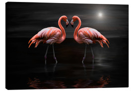 Lærredsbillede  Flamingos at night - Heike Langenkamp