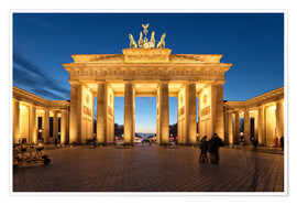 Premium-plakat  Brandenburg gate at dusk