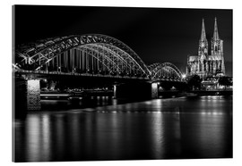 Akrylbillede  Cologne Cathedral and bridge