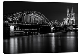Lærredsbillede  Cologne Cathedral and bridge