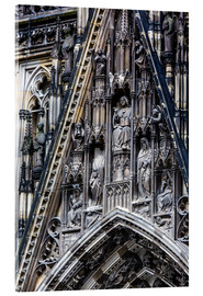 Akrylbillede  Facades detail at Cologne Cathedral