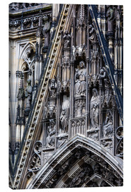 Lærredsbillede  Facades detail at Cologne Cathedral