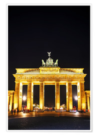 Premium-plakat  Brandenburg gate (Brandenburger Tor) in Berlin