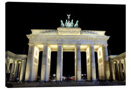 Lærredsbillede  Brandenburg Gate in Berlin by night