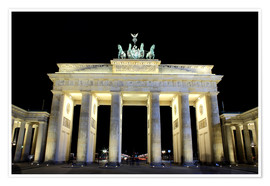 Premium-plakat  Brandenburg Gate in Berlin by night