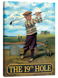 Lærredsbillede  The 19th Hole - Peter Green's Pub Signs Collection