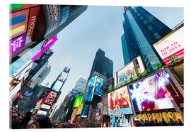 Akrylbillede  Times Square - most popular spot in New York