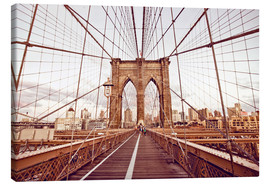 Lærredsbillede  New York Brooklyn Bridge and city skyline