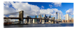 Akrylbillede  Panoramic Brooklyn Bridge and Manhattan skyline