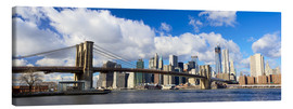 Lærredsbillede  Panoramic Brooklyn Bridge and Manhattan skyline