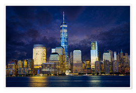 Premium-plakat Manhattan skyline at night