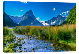 Lærredsbillede  Milford Sound New Zealand - Thomas Hagenau