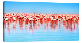 Lærredsbillede  Flamingo in the lake Nakuru