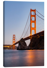 Lærredsbillede  ?San Francisco Golden Gate Bridge at sunset