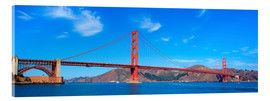 Akrylbillede  panoramic view of Golden Gate Bridge