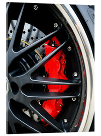 Akrylbillede  Red ceramic brakes