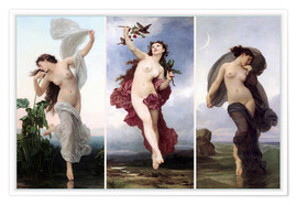 Premium-plakat The times of day (Triptych)