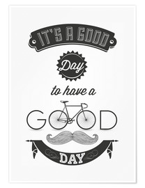 Premium-plakat  Good day - Typobox