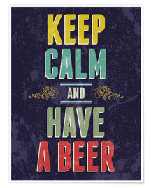 Premium-plakat  Keep calm and have a beer - Typobox