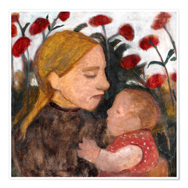 Premium-plakat Young woman with child