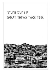 Premium-plakat Never Give Up