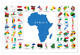 Premium-plakat  African Countries with Flags
