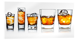 Akrylbillede  alcoholic drinks with natural ice