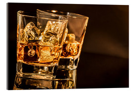 Akrylbillede  Whisky glasses
