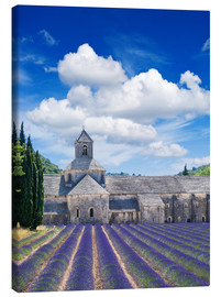Lærredsbillede  Sénanque abbey with lavender field, Provence, France