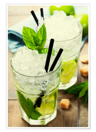 Premium-plakat Mojito cocktail with ingredients
