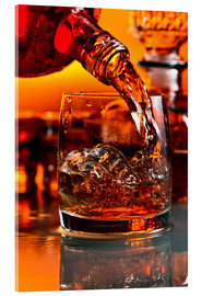 Akrylbillede  whiskey and ice