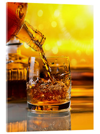 Akrylbillede  Whiskey with ice