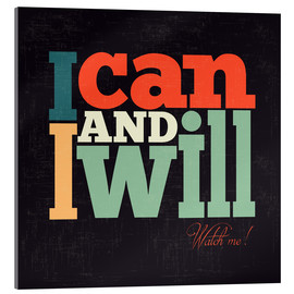 Akrylbillede  I can and i will - Typobox