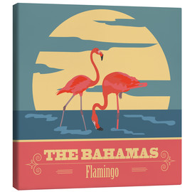 Lærredsbillede  The Bahamas - Flamingo
