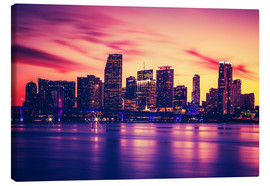 Lærredsbillede  Miami at sunset, USA