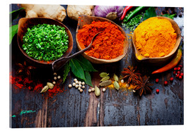 Akrylbillede  Colorful spices diversity