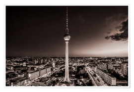 Premium-plakat  Berlin TV Tower - Sören Bartosch