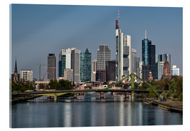 Akrylbillede  Skyline Frankfurt am Main Shining Morning - Frankfurt am Main Sehenswert