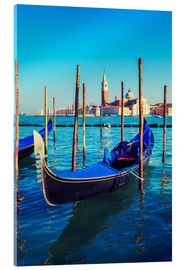 Akrylbillede  Gondolas in lagoon of Venice on sunrise
