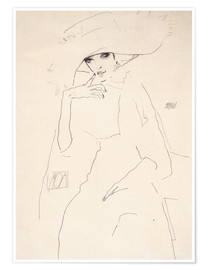 Premium-plakat  Moa the dancer - Egon Schiele