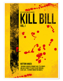 Premium-plakat Kill Bill Vol. I - Minimal Film Movie Alternative