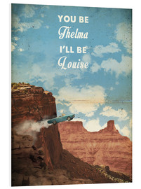 Print på skumplade  Alternative Thelma and Louise retro movie poster - 2ToastDesign