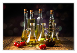 Premium-plakat Oils and spices